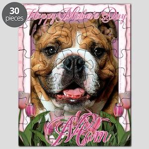 PinkTulipsBulldogDkMOM_5x7_V Puzzle