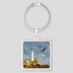 Lighthouse7100 Square Keychain