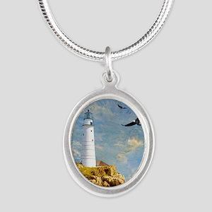 Lighthouse7100 Silver Oval Necklace