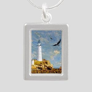 Lighthouse7100 Silver Portrait Necklace