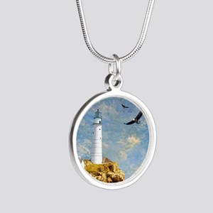 Lighthouse7100 Silver Round Necklace