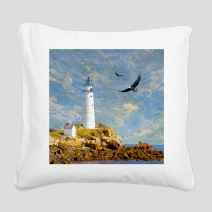 Lighthouse7100 Square Canvas Pillow