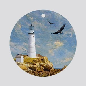 Lighthouse7100 Round Ornament