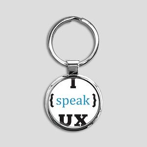 LogoUXS_tiny Round Keychain