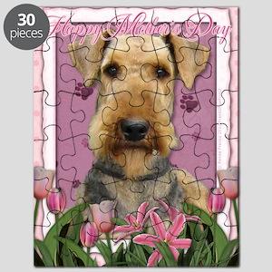 PinkTulipsAiredale_5x7_V Puzzle