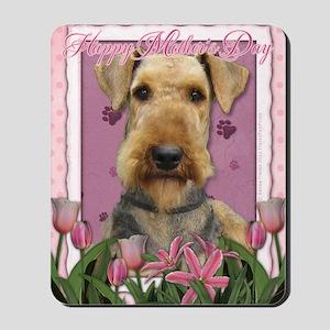 PinkTulipsAiredale_5x7_V Mousepad
