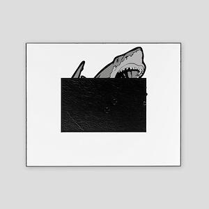 sharkattackwhite Picture Frame