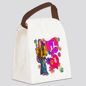 HIPPIE-AT-HEART-TEE Canvas Lunch Bag
