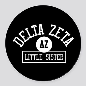 Delta Zeta Little Sister Round Car Magnet