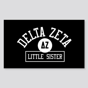 Delta Zeta Little Sister Sticker (Rectangle)