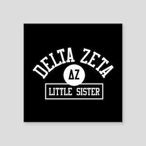 "Delta Zeta Little Sister Square Sticker 3"" x 3"""