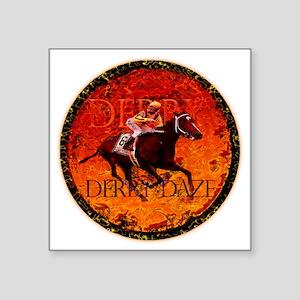 "derby daze Square Sticker 3"" x 3"""