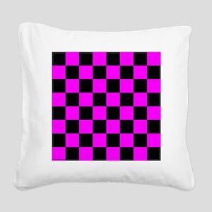 throwpillowpinkcheckerboardpn Square Canvas Pillow