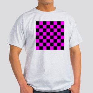 throwpillowpinkcheckerboard Light T-Shirt