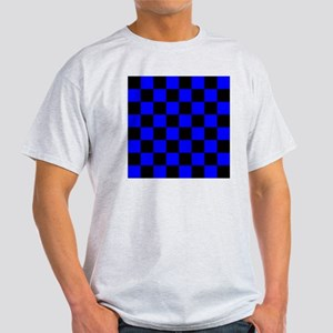 throwpillowbluecheckerboard Light T-Shirt