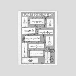 supersonic3edit_edited-2 5'x7'Area Rug