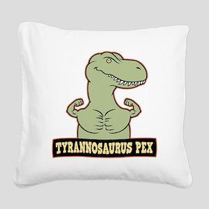 t-pex-T Square Canvas Pillow