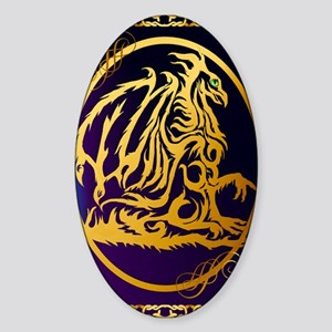 09-Large Posterr Gold Dragon 1 Sticker (Oval)