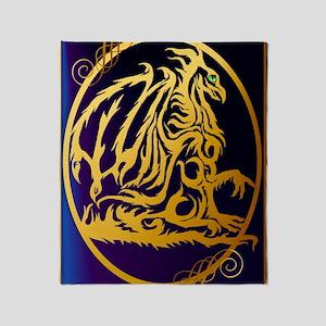 09-Large Posterr Gold Dragon 1 Throw Blanket