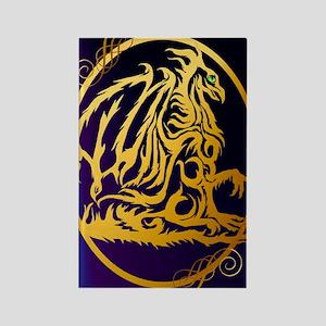 09-Large Posterr Gold Dragon 1 Rectangle Magnet