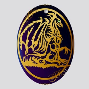 09-Large Posterr Gold Dragon 1 Oval Ornament