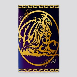 09-Large Posterr Gold Dragon 1 3'x5' Area Rug
