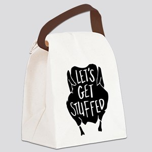 Let's Get Stuffed Canvas Lunch Bag