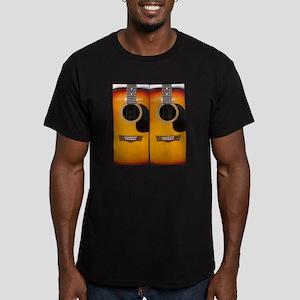 FlipFlops-Guitar Men's Fitted T-Shirt (dark)
