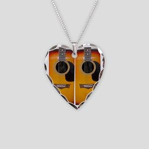 FlipFlops-Guitar Necklace Heart Charm