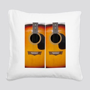 FlipFlops-Guitar Square Canvas Pillow
