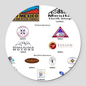 SAR Logos sponsors for back type Round Car Magnet