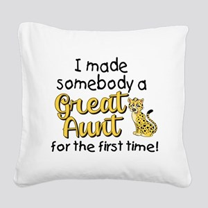 great aunt Square Canvas Pillow