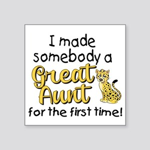 "great aunt Square Sticker 3"" x 3"""