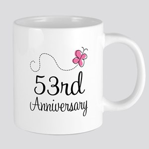 53rd Anniversary Butterfly Mugs