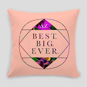 Delta Zeta Best Big Ever Everyday Pillow
