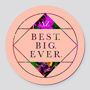 Delta Zeta Best Big Ever Round Car Magnet