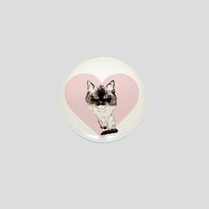 I_love_ragdolls_transparent_white Mini Button