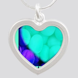 ilove_testicals_blue_informa Silver Heart Necklace