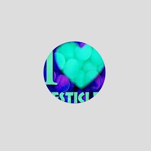 ilove_testicals_blue_informalfont2 Mini Button
