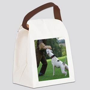american bulldog b Canvas Lunch Bag