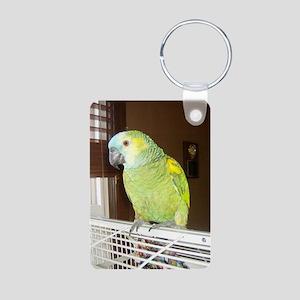 Amazon Parrot1100x1500 Aluminum Photo Keychain