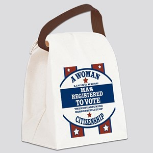 A Woman Votes Canvas Lunch Bag