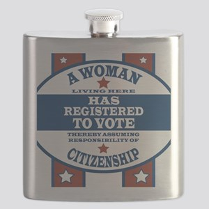 A Woman Votes Flask