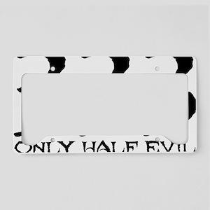 HalfEvil-Black License Plate Holder