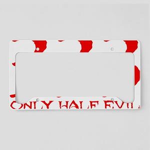 HalfEvil-Red License Plate Holder