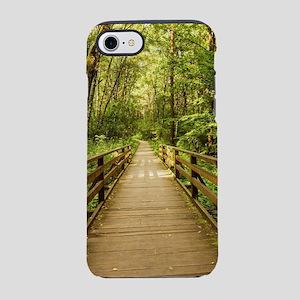 Scenery rustic wooden bridge p iPhone 7 Tough Case
