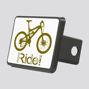 MTB-Ride-Brown Rectangular Hitch Cover