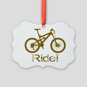 MTB-Ride-Brown Picture Ornament