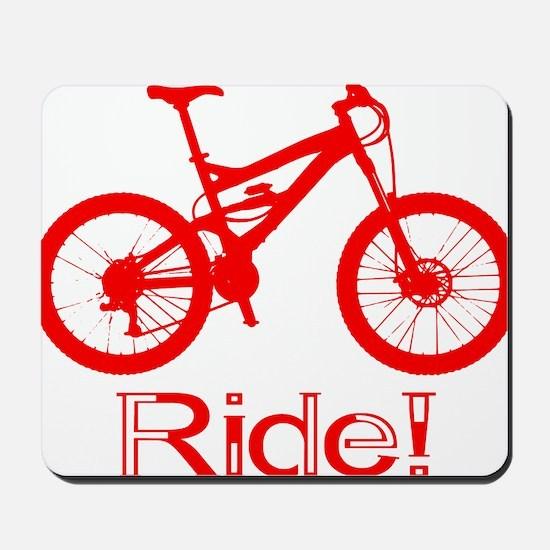 MTB-Ride-Red Mousepad