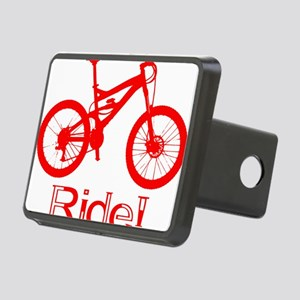MTB-Ride-Red Rectangular Hitch Cover